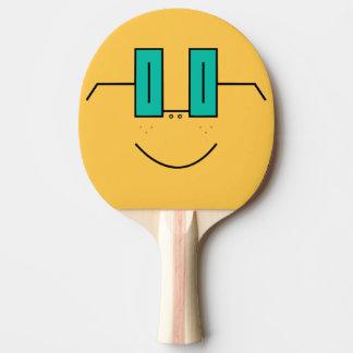 Raquete De Ping-pong Raquete engraçada de Pong do sibilo da cara dos