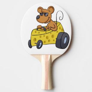 Raquete De Ping Pong Rato com os óculos de sol que conduzem o carro df93fe716f