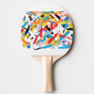 Raquete De Ping-pong Respingo positivo das impressões da pá de Pong do