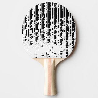 Raquete De Ping-pong Riscas preto e branco afligidas