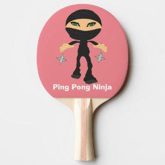 Raquete De Ping Pong Sibilo Pong Ninja da menina
