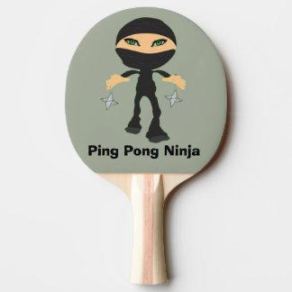 Raquete De Ping Pong Sibilo Pong Ninja - menina Ninja