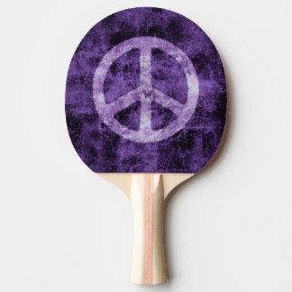 Raquete De Ping Pong Sinal de paz roxo