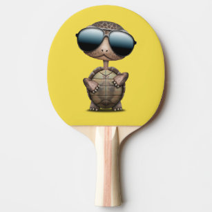 8c98542baaf0b Raquete De Ping Pong Tartaruga legal do bebê que veste óculos de sol
