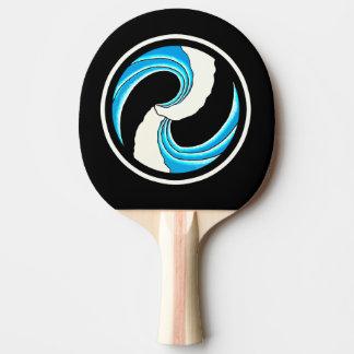 Raquete De Ping-pong Tatuagem dobro da onda
