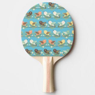 Raquete De Ping Pong Teste padrão Assorted dos pássaros