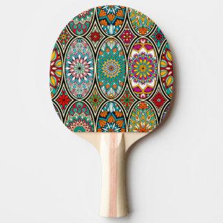 Raquete De Ping Pong Teste padrão floral das várias mandalas ovais