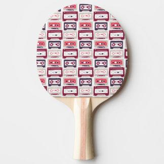 Raquete De Ping-pong Teste padrão retro legal do vetor das gavetas do