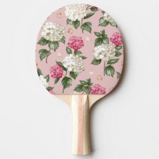 Raquete De Ping-pong Teste padrão sem emenda floral do Hydrangea