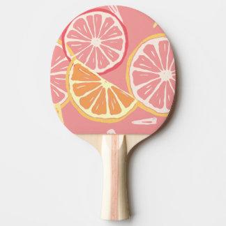 Raquete De Ping-pong Teste padrão tropical da toranja cor-de-rosa e do