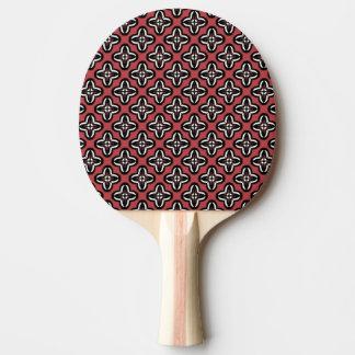 Raquete De Ping-pong Vermelho branco preto todo abaixo