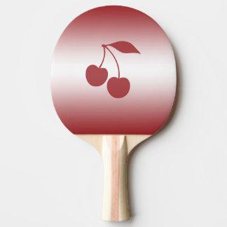Raquete De Ping Pong Vermelho de cereja ao inclinação branco
