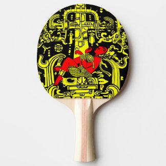 Raquete De Ping-pong Versão amarela & vermelha do astronauta antigo
