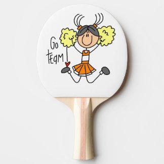 Raquete De Tênis De Mesa A laranja vai pá de Pong do sibilo do cheerleader