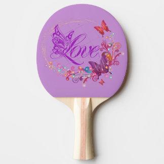 Raquete De Tênis De Mesa Amor da borboleta