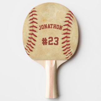 Raquete De Tênis De Mesa Basebol personalizado do nome e do número