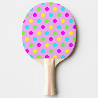 Raquete De Tênis De Mesa Bolinhas coloridas engraçadas - pá de Pong do