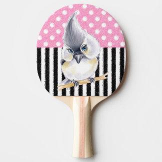 Raquete De Tênis De Mesa Bolinhas cor-de-rosa do Titmouse
