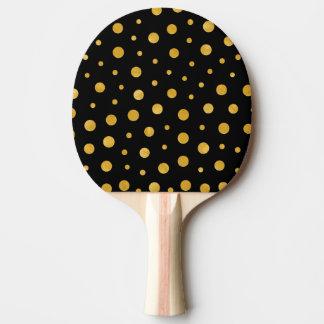Raquete De Tênis De Mesa Bolinhas elegantes - ouro preto