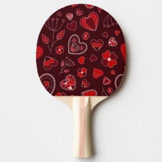 Raquete De Tênis De Mesa Corações e pá vermelhos de Pong do sibilo das