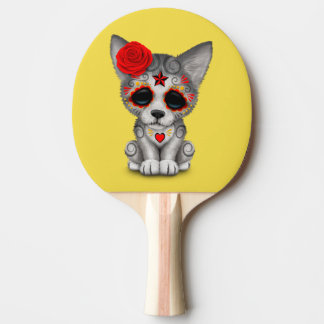 Raquete De Tênis De Mesa Dia vermelho do lobo Cub inoperante