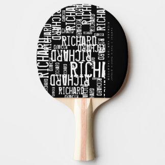 Raquete De Tênis De Mesa esfrie/pá moderno de b/w com nome