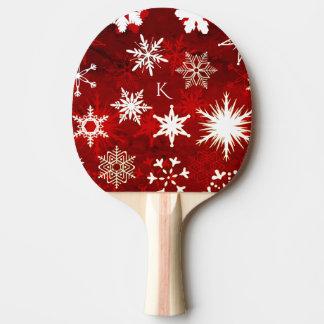 Raquete De Tênis De Mesa Flocos de neve festivos do Natal