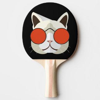 Raquete De Tênis De Mesa Gato legal nos óculos de sol