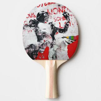 Raquete De Tênis De Mesa Grafites vermelhos e brancos desvanecidos com