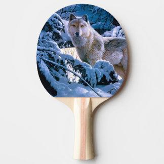 Raquete De Tênis De Mesa Lobo ártico - lobo branco - arte do lobo