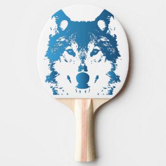 Raquete De Tênis De Mesa Lobo do azul de gelo da ilustração