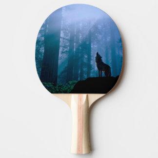 Raquete De Tênis De Mesa Lobo do urro - lobo selvagem - lobo da floresta
