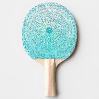Raquete De Tênis De Mesa Mandala da flor do gelo
