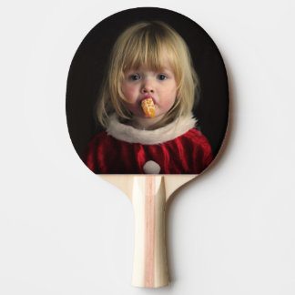 Raquete De Tênis De Mesa Menina do Natal - criança do Natal - menina bonito
