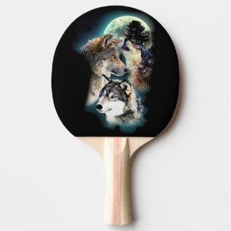 Raquete De Tênis De Mesa Montanha da lua do lobo da fantasia
