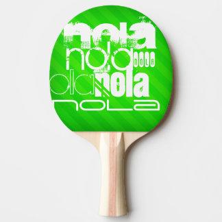 Raquete De Tênis De Mesa NOLA; Listras verdes de néon