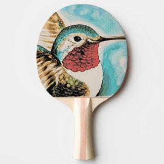 Raquete De Tênis De Mesa O colibri bonito da costela