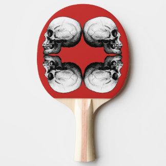 Raquete De Tênis De Mesa Ossos protetores preto e branco do crânio X4 do