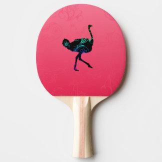 Raquete De Tênis De Mesa Pá abstrata de Pong do sibilo da avestruz