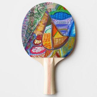 Raquete De Tênis De Mesa Pá abstrata do ténis de mesa