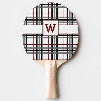 Raquete De Tênis De Mesa Pá branca e vermelha preta de Pong do sibilo da