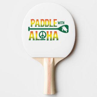 Raquete De Tênis De Mesa Pá com Aloha - pá de Pong do sibilo - estilo da