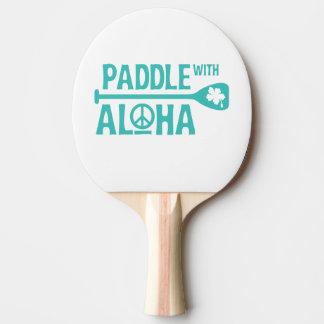 Raquete De Tênis De Mesa Pá com Aloha - pá de Pong do sibilo - turquesa