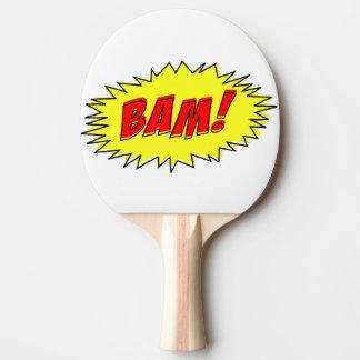 Raquete De Tênis De Mesa Pá cómica de Pong do sibilo do Bam do vintage