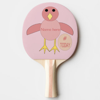 Raquete De Tênis De Mesa Pá cor-de-rosa feita sob encomenda de Pong do
