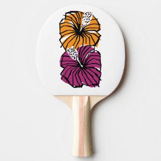 Raquete De Tênis De Mesa Pá de Pong do sibilo das flores do hibiscus