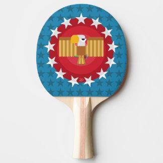 Raquete De Tênis De Mesa Pá de Pong do sibilo de Eagle da liberdade (azul)