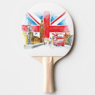 Raquete De Tênis De Mesa Pá de Pong do sibilo de Londres Big Ben, parte