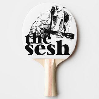 "Raquete De Tênis De Mesa ""pá de Pong do sibilo do sesh"" (branca)"