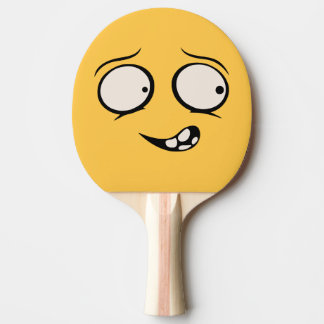 Raquete De Tênis De Mesa Pá engraçada mentalmente enlouquecido de Pong do